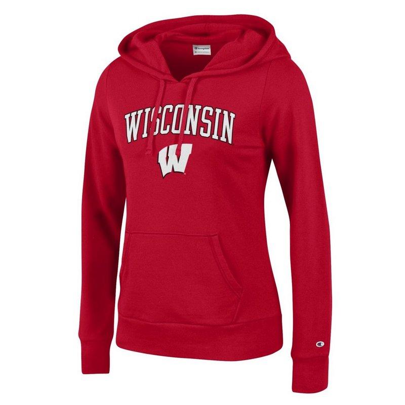 Wisconsin Badgers Womens Hooded Sweatshirt Scarlet APC03155790