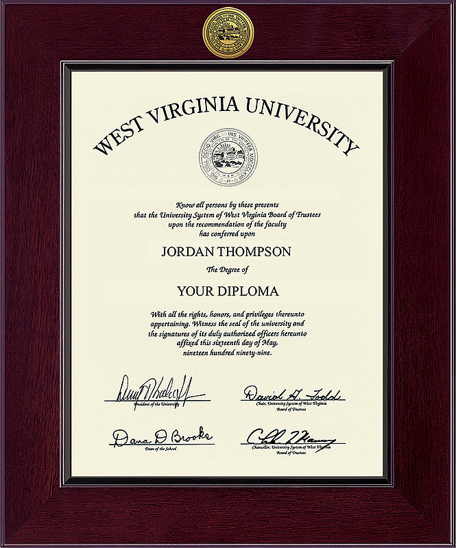 Diploma Frames Amp Photos West Virginia Mountaineers College
