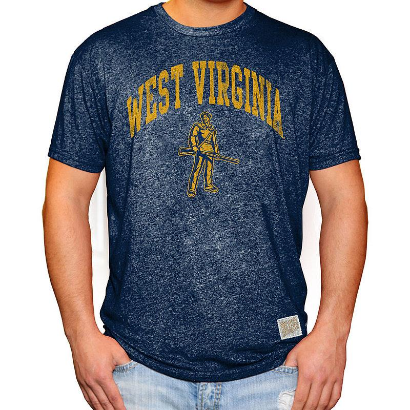 WVU West Virginia Mountaineers Retro TShirt Navy RB124