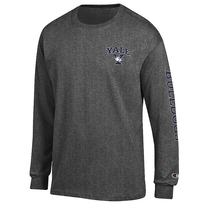 Yale Bulldogs Long Sleeve TShirt Letterman Charcoal APC03005000/APC03001169