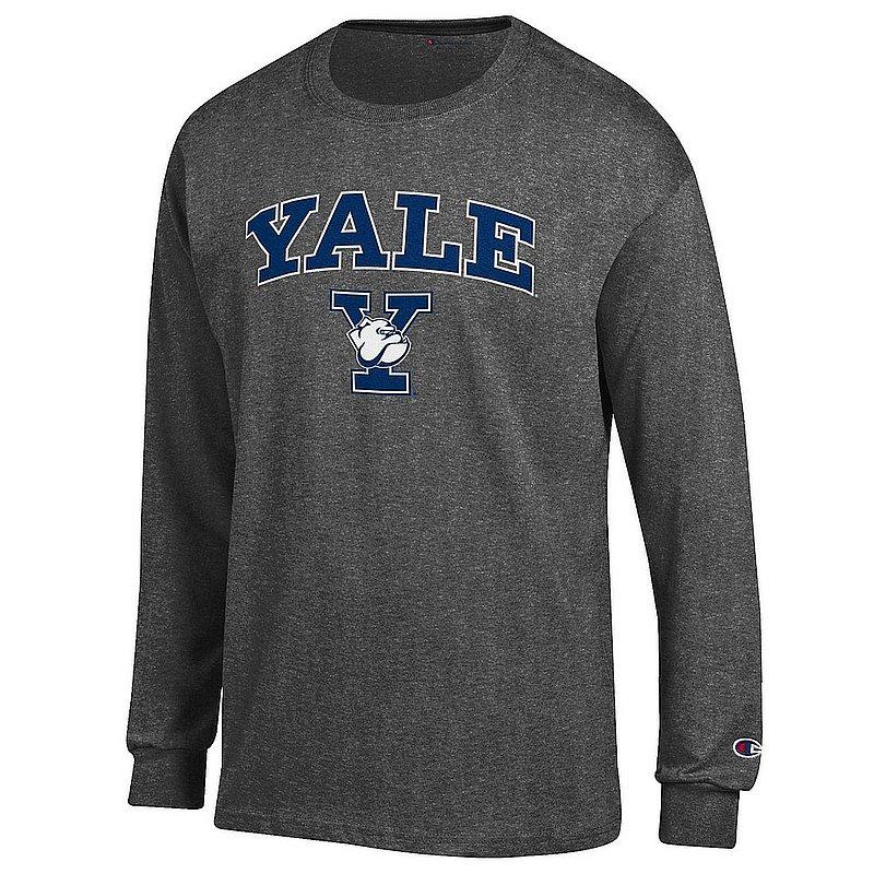 Yale Bulldogs Long Sleeve TShirt Varsity Charcoal APC03004085