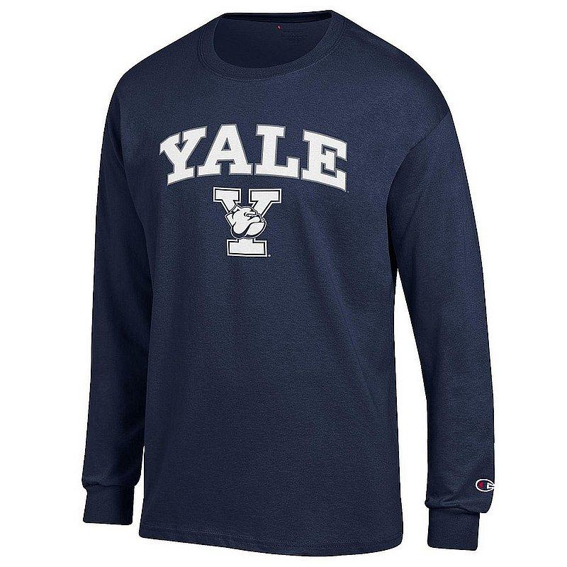 Yale Bulldogs Long Sleeve TShirt Varsity Navy APC03001059