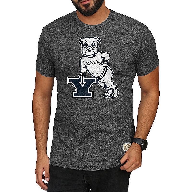 Yale Bulldogs Retro Tshirt Charcoal CYLE034B_RB124M_MTCH