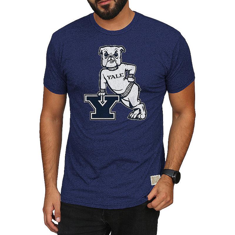 Yale Bulldogs Retro Tshirt Navy CYLE034B_RB124M_MTNV
