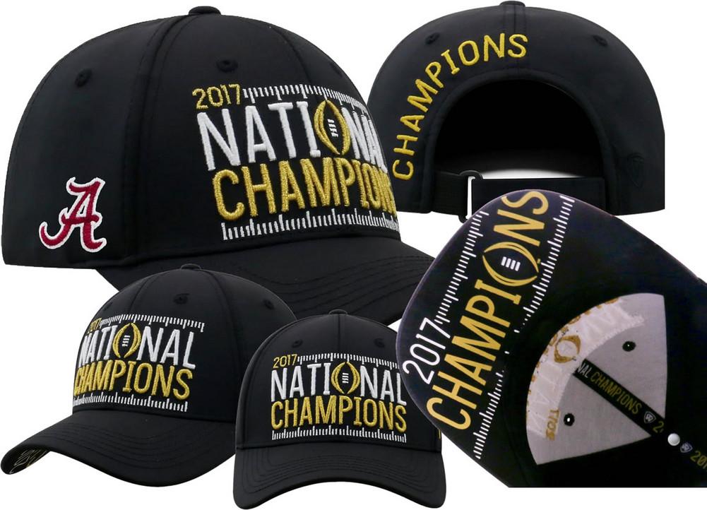 Alabama Crimson Tide National Champs Hat Black Phenom