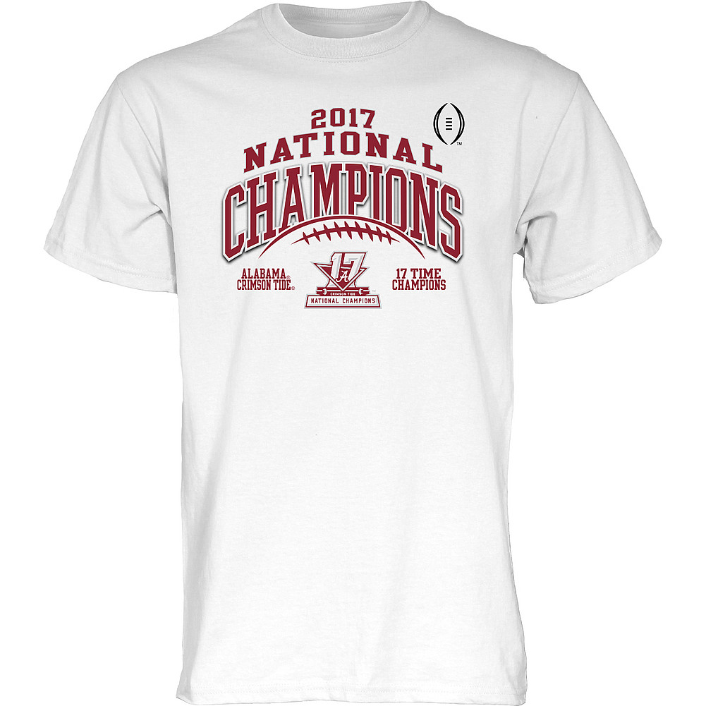 d059b81ee5f Alabama Crimson Tide National Champs Tshirt White Laces (2017 National  Championship)