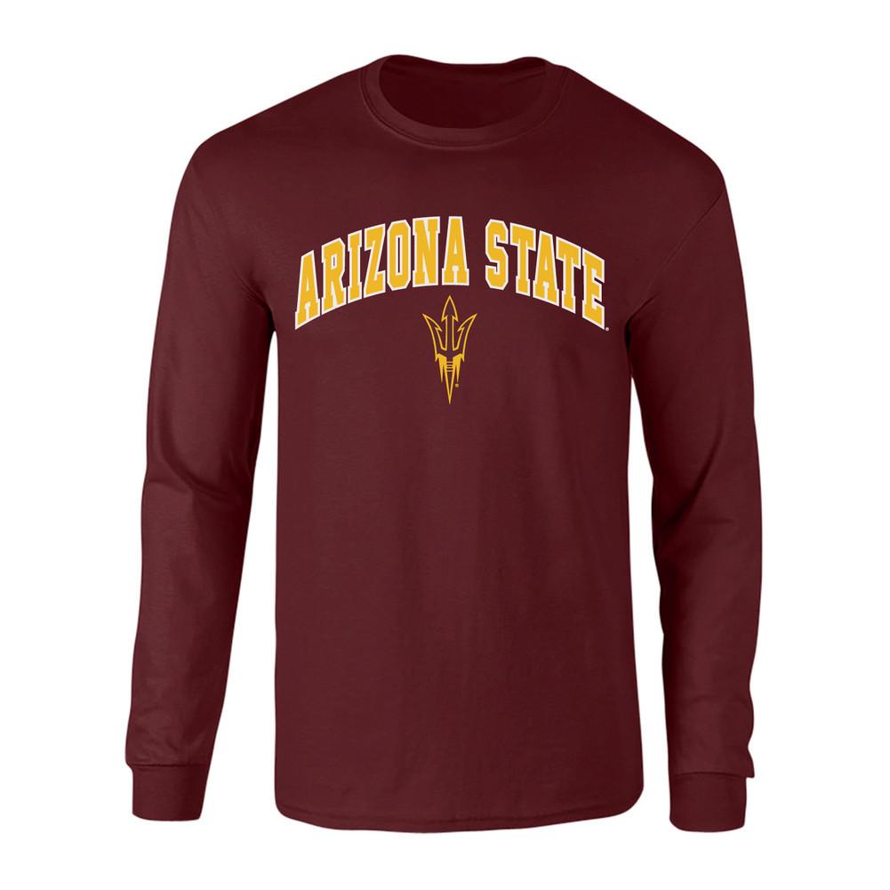 Elite Fan Shop Arizona State Sun Devils Kids Tshirt Arch Maroon