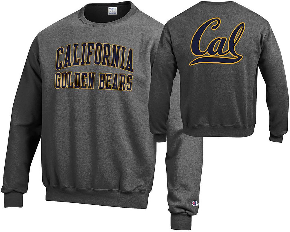 new concept 146dc 602fd California Golden Bears Crewneck Sweatshirt Back Charcoal ...