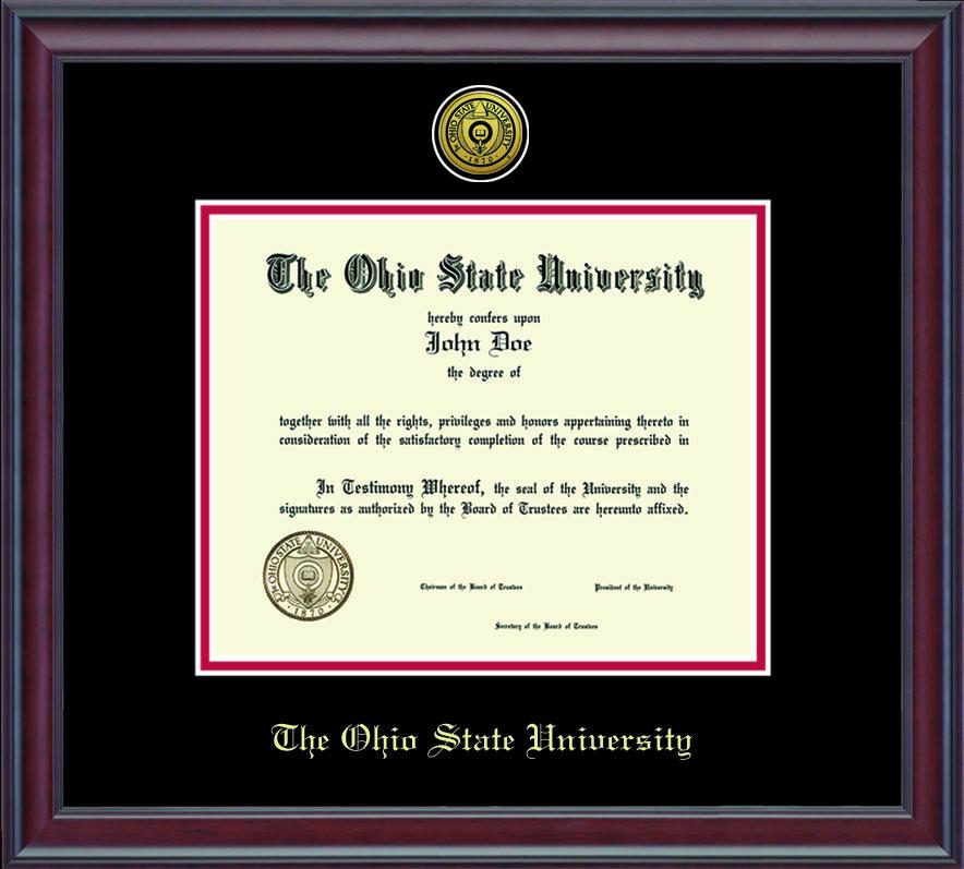 Ohio State Buckeyes Diploma Frame Dsch Ohsuzd1 2bkrd