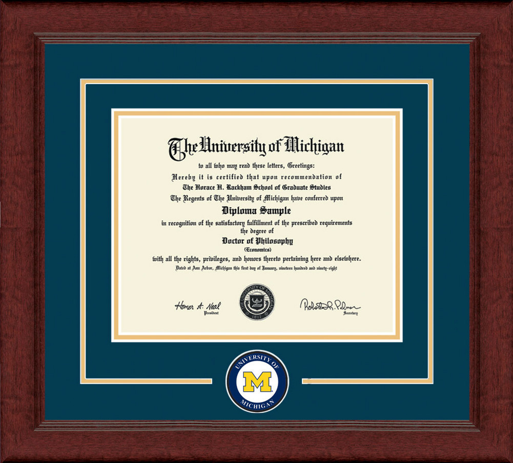 University Of Michigan Diploma Frame Lasting Memories DSCH-UmicLmC ...