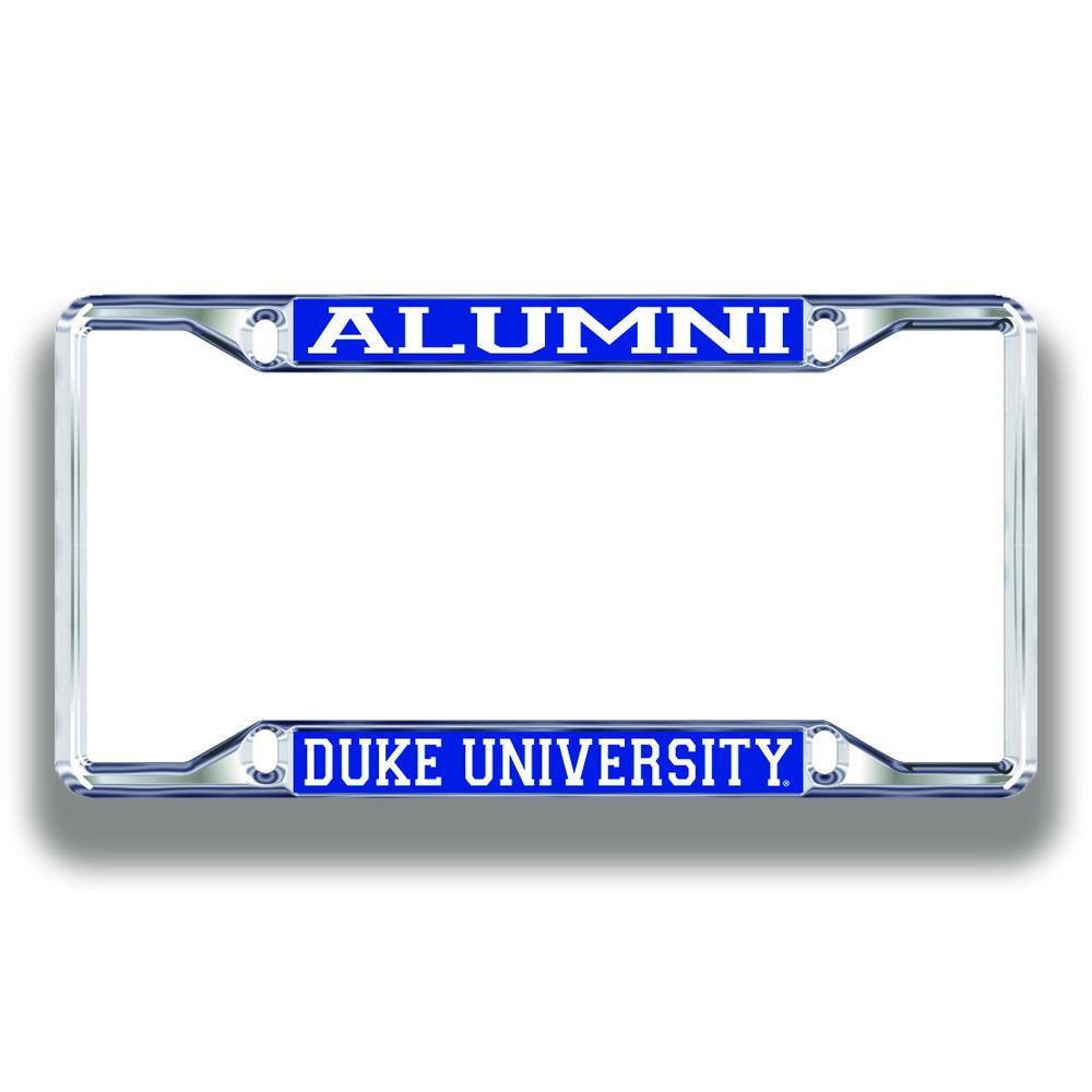 Duke University Alumni Chrome License Plate Frame