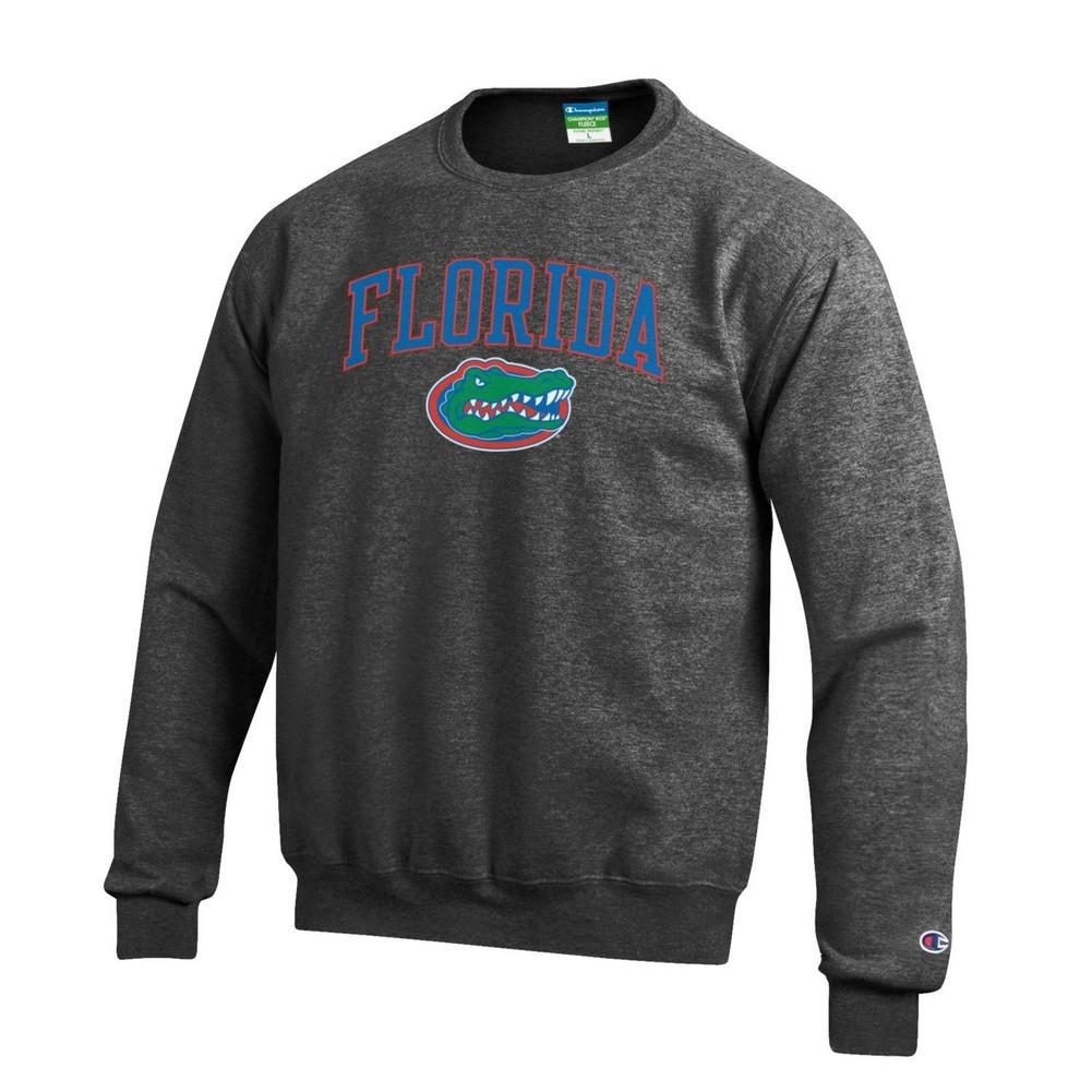 edd27089 Florida Gators Crewneck Sweatshirt Arch Charcoal APC02857113