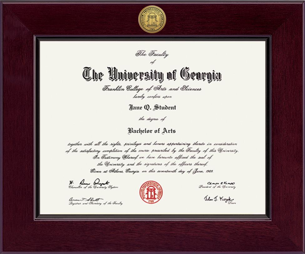 Georgia Bulldogs Diploma Frame 303500