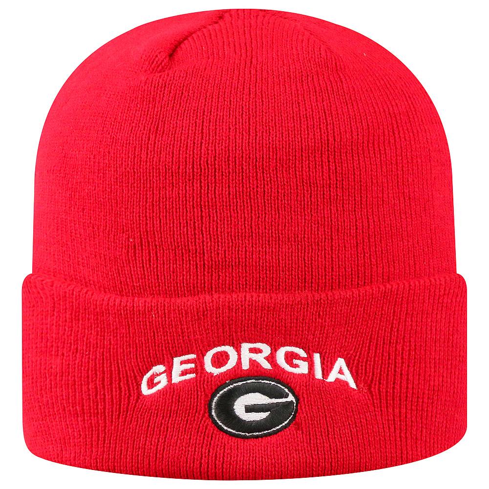 5f1d12c6229 Georgia Bulldogs Knit Winter Beanie Cuffed Hat Red TWCUF-GA-CKT-TMC5