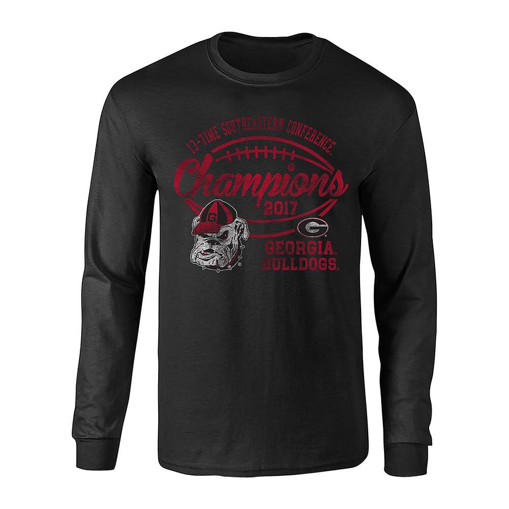65fcd56dabc8 Georgia Bulldogs SEC Champs Long Sleeve Tshirt 2017 Black Vintage ...