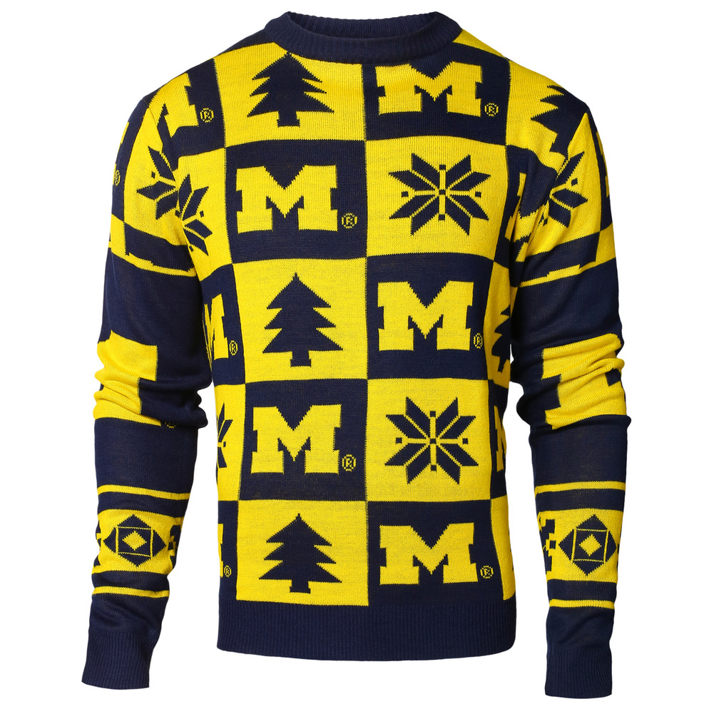 Michigan Wolverines Ugly Christmas Sweater SWTCNNC16PATMI