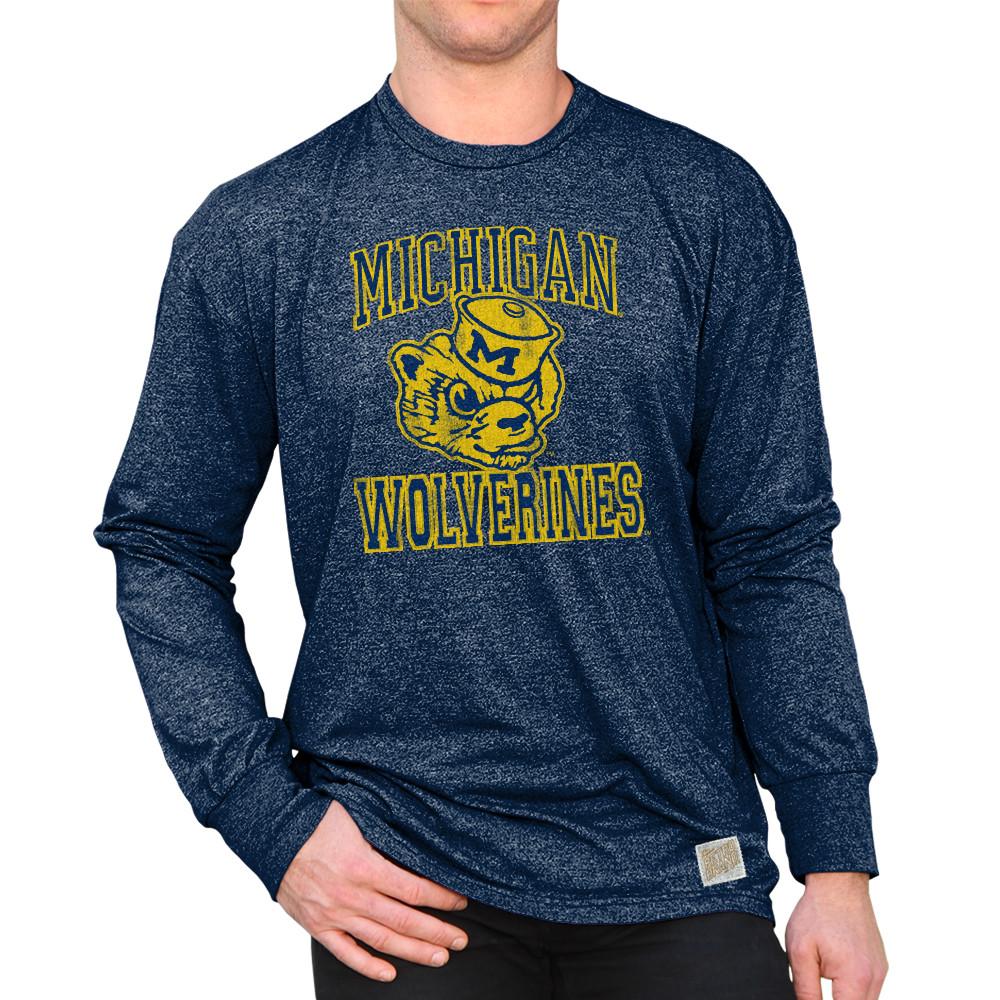 Michigan Wolverines Vintage Long Sleeve Tshirt Navy RB424-CMIC076A 92e7948b2