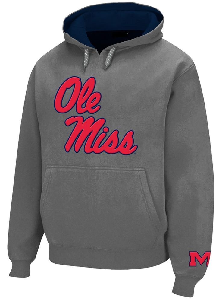 a7ecd9f3 Mississippi Ole Miss Rebels Mens Hooded Sweatshirt Gray MSS28417GRH
