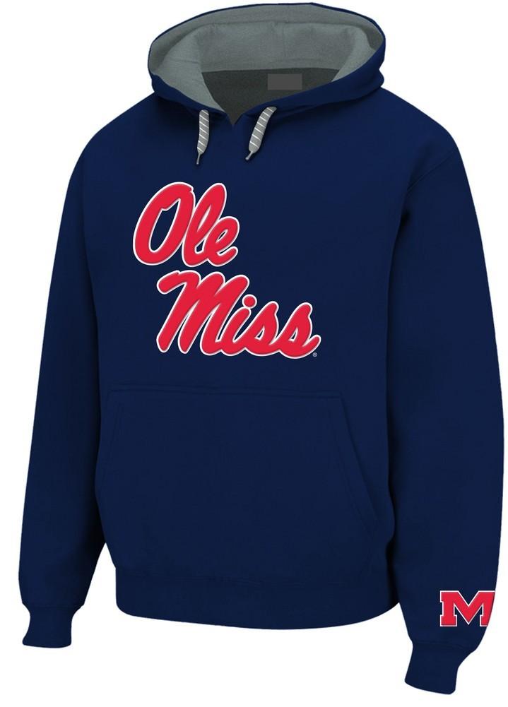9e47fc1c Mississippi Ole Miss Rebels Mens Hooded Sweatshirt Navy MSS28417