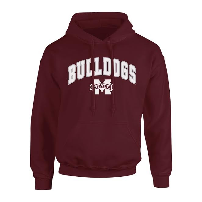 Mississippi State Bulldogs Hooded Sweatshirt Arch Maroon
