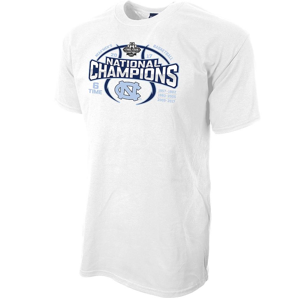 391507b64e6 North Carolina Tar Heels 2017 National Basketball Champs Tshirt White