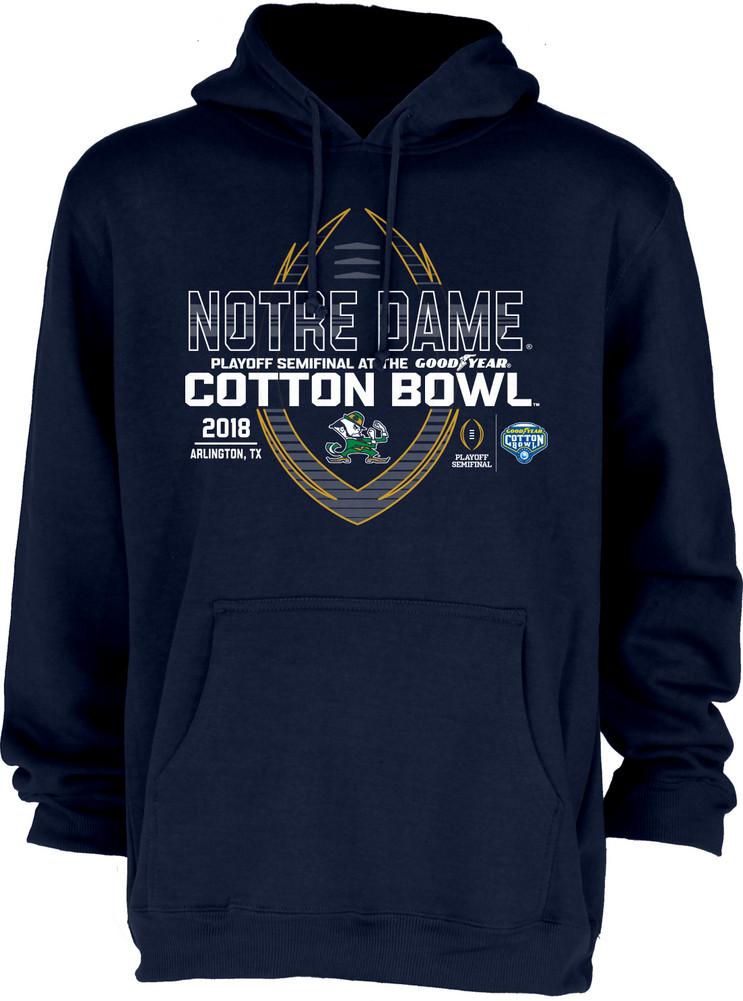 ce8351c26631 Notre Dame Fighting Irish Cotton Bowl Hooded Sweatshirt 2018 Spiral Navy