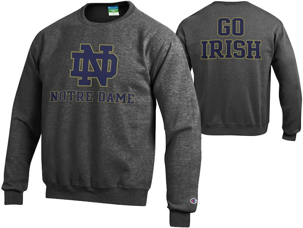 Notre Dame Fighting Irish Crewneck Sweatshirt Back