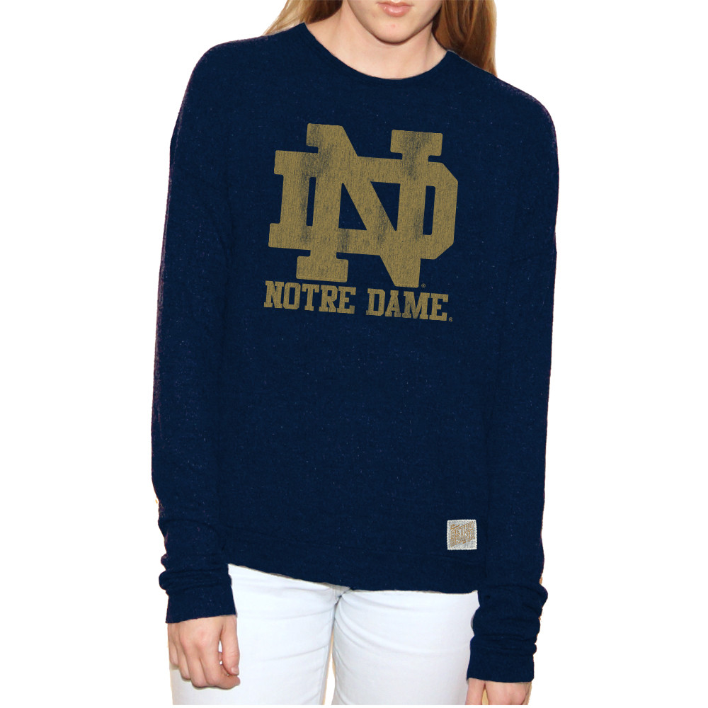 Notre Dame Fighting Irish Women S Vintage Long Sleeve Shirt Rb1979