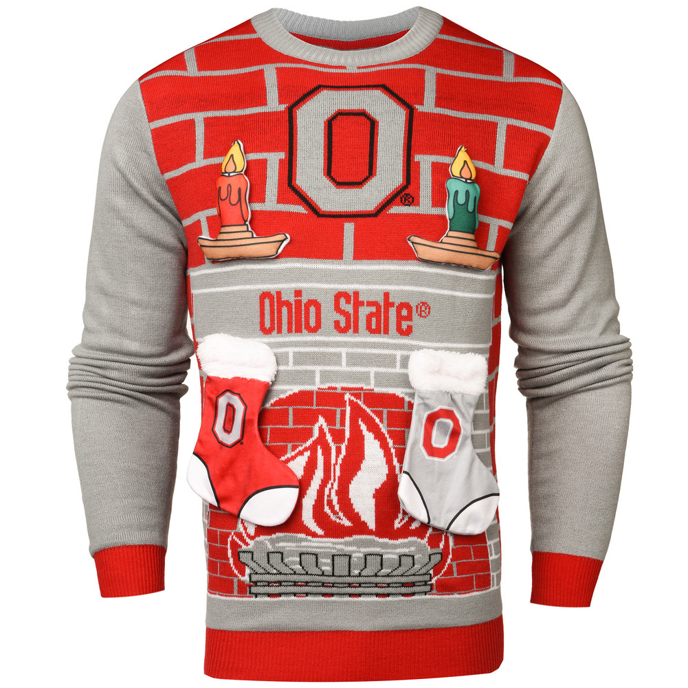 Ohio State Buckeyes 3D Ugly Christmas Sweater SWTCNNC3DOH