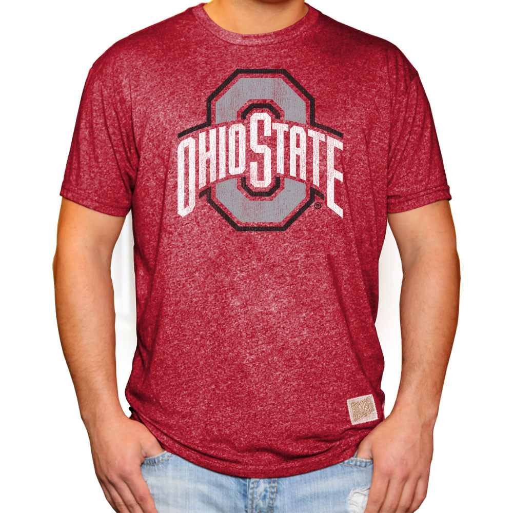 Ohio State Buckeyes Retro Tshirt Scarlet RB124