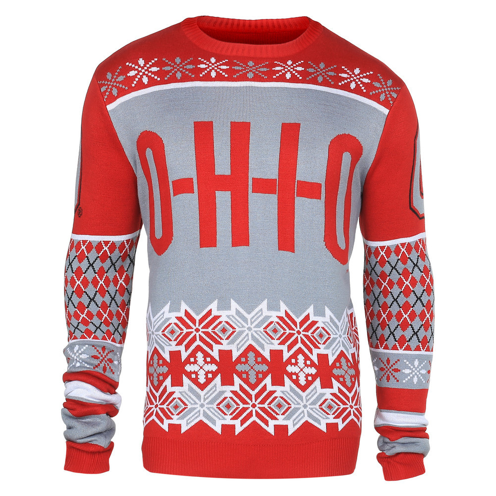 Ohio State Buckeyes Slogan Ugly Christmas Sweater