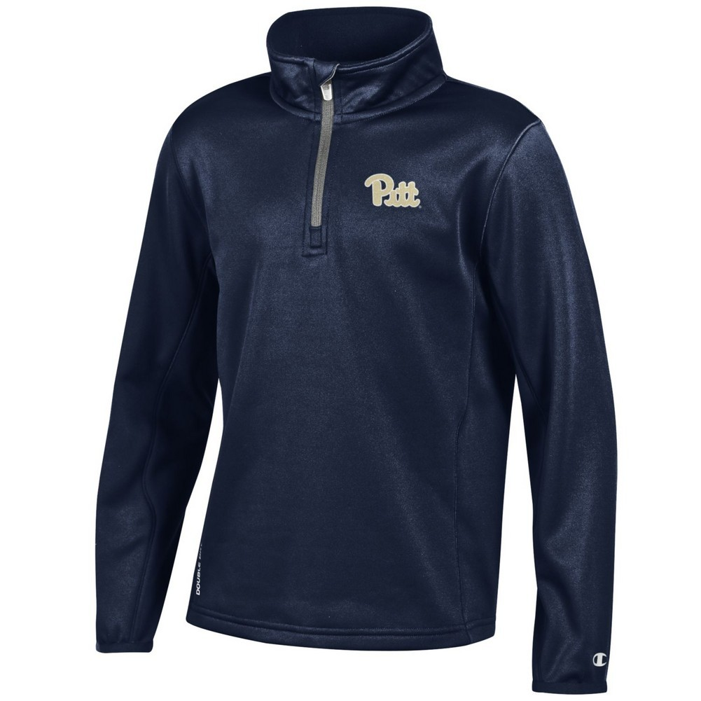 watch 7688c 69409 Pitt Panthers Youth Quarter Zip Sweatshirt Navy APC02705501