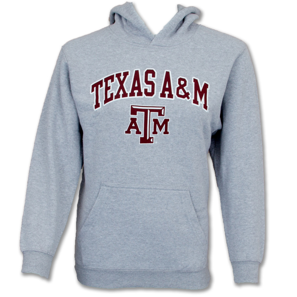 e1caf3ad Texas A&M Aggies Hoodie Youth Kids Gray Tackle Twill