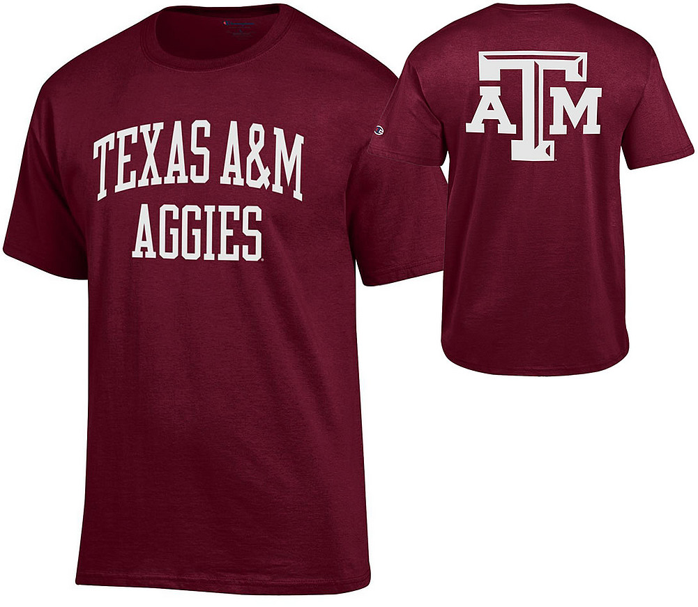 34d2b3020cde Texas A M Aggies TShirt Back Maroon APC03010123-APC03010122