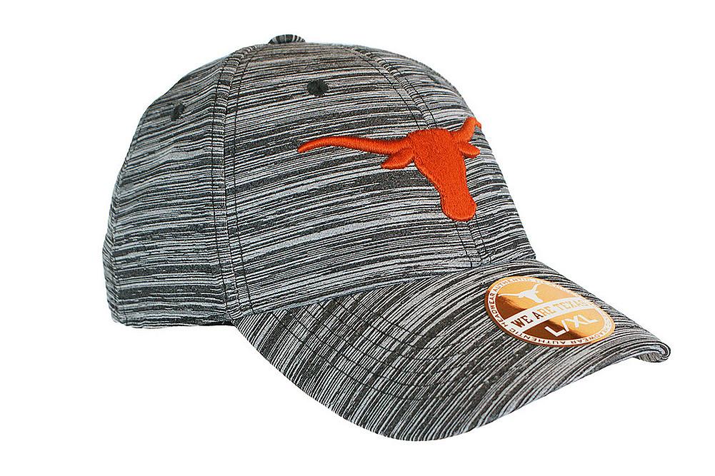 Elite Fan Shop Texas Longhorns Fitted Hat Space Dyed Black