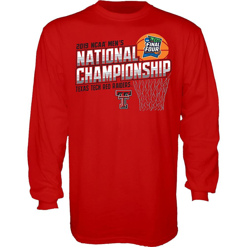 ab95d0bf Texas Tech Red Raiders National Basketball Championship Long Sleeve Tshirt  2019