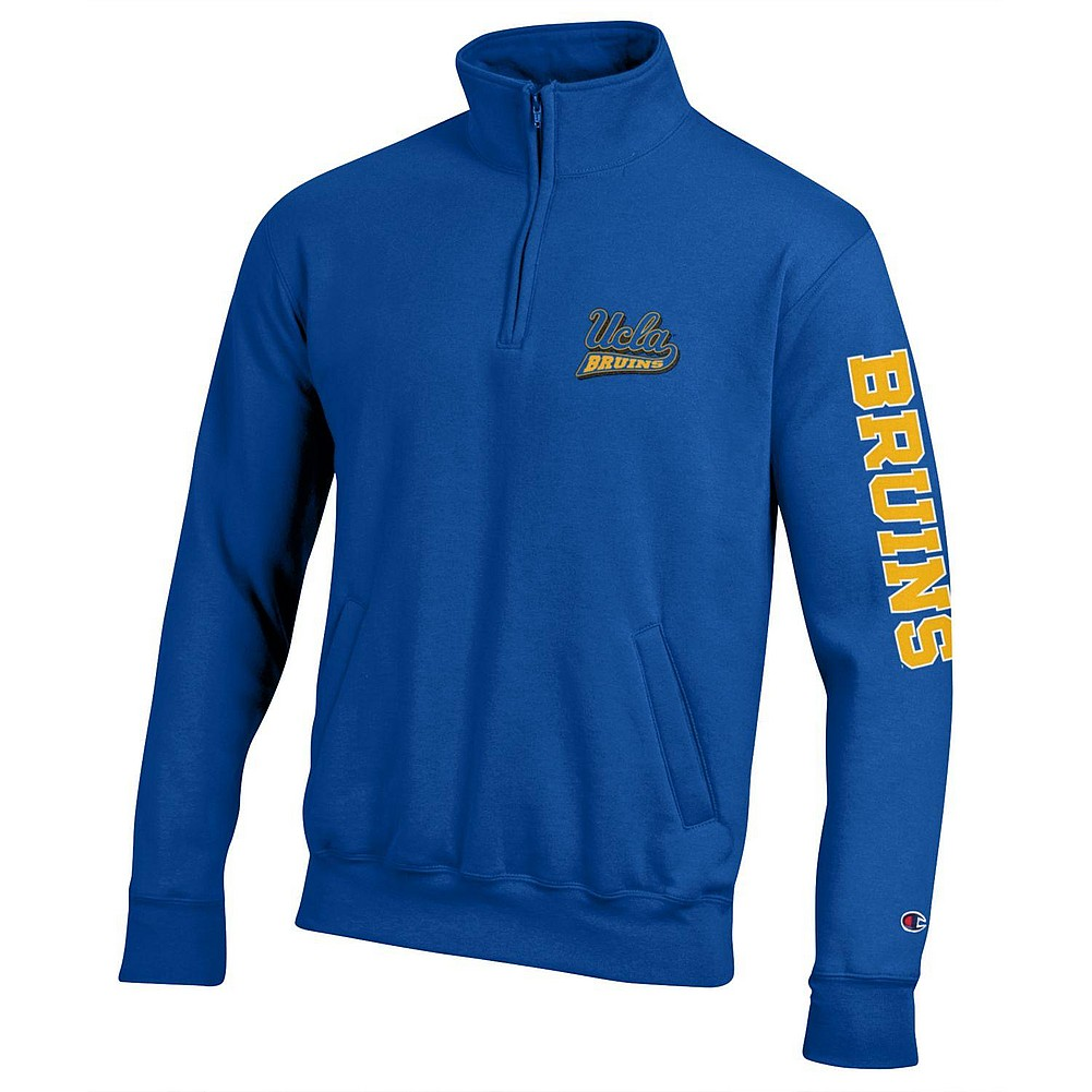 UCLA Bruins Quarter Zip Sweatshirt Letterman Blue APC02954957 ... 6d3269a332
