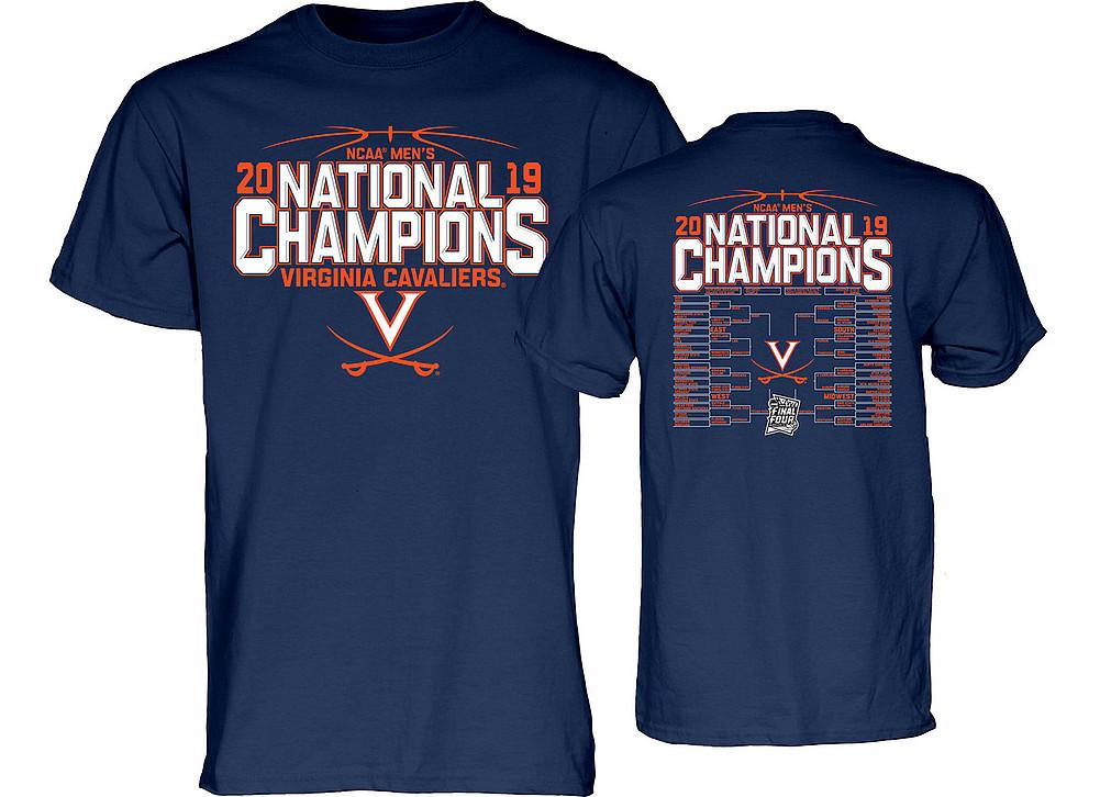 86f344454264 UVA Virginia Cavaliers National Basketball Champions Tshirt 2019 Back Navy  TOP BILLING