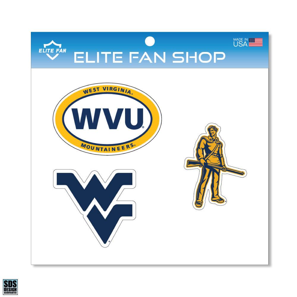 Elite Fan Shop NCAA 6 Vinyl Decal 3-Pack