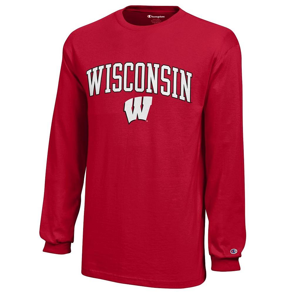 6223aaa509d91 Wisconsin Badgers Kids Long Sleeve TShirt Cardinal APC03008735