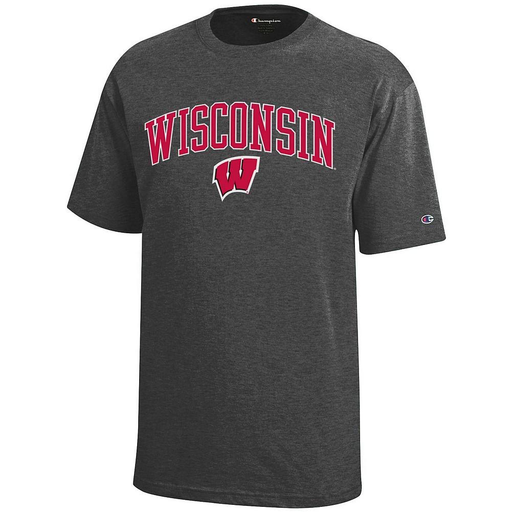 3a041f105cc6b Wisconsin Badgers Kids TShirt Charcoal APC03008737