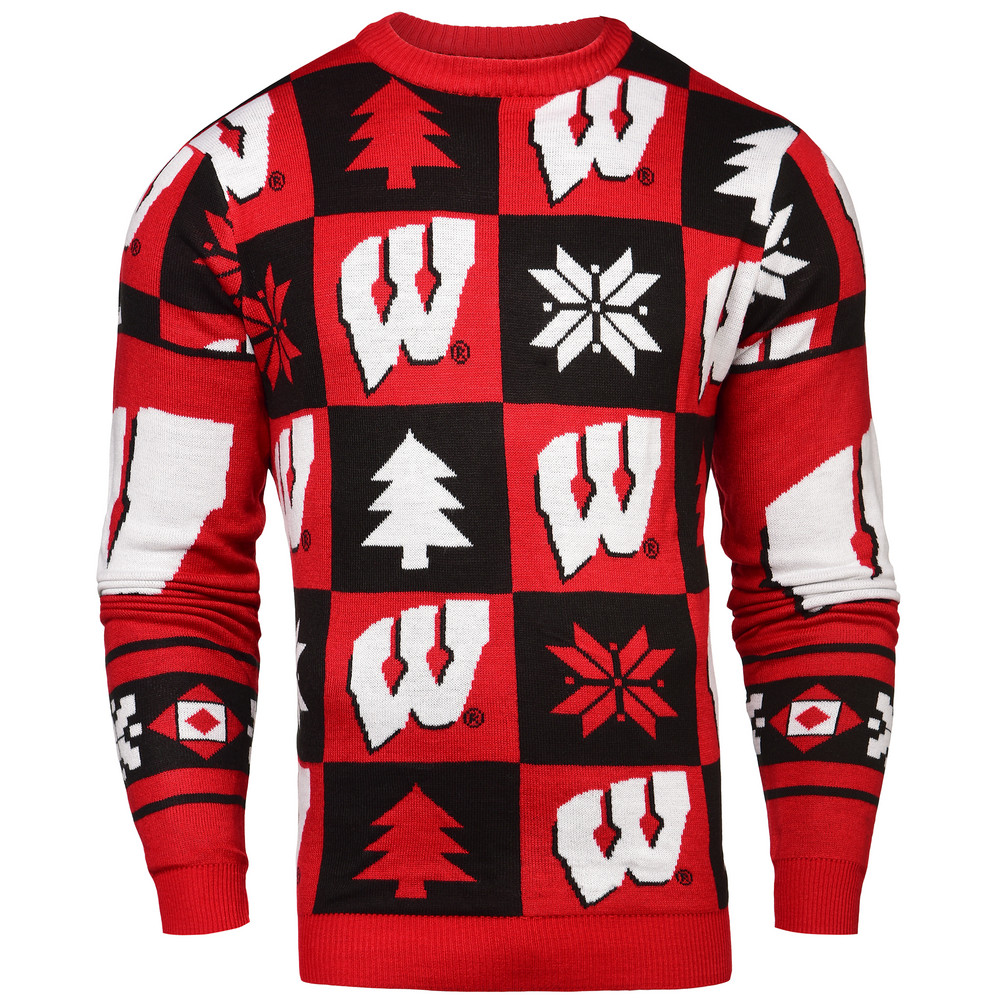 Wisconsin Badgers Ugly Christmas Sweater Swtcnnc16patwi