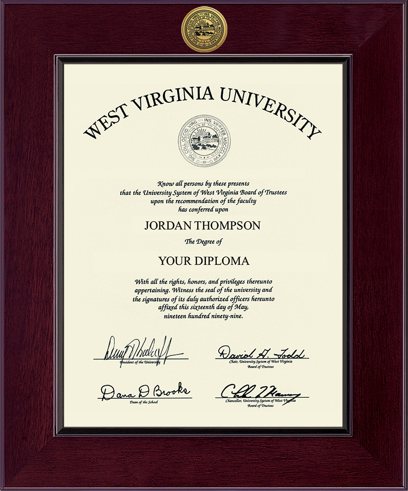 Wvu West Virginia Mountaineers Diploma Frame 222519