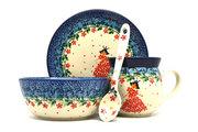 Ceramika Artystyczna Polish Pottery 4-pc. Baby Set - Crown Princess S27-2286a (Ceramika Artystyczna)