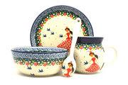 Ceramika Artystyczna Polish Pottery 4-pc. Baby Set - Fairy Princess S27-2523a (Ceramika Artystyczna)