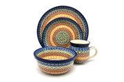 Ceramika Artystyczna Polish Pottery 4-pc. Place Setting with Standard Bowl - Autumn S25-050a (Ceramika Artystyczna)