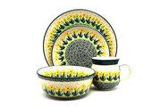 Ceramika Artystyczna Polish Pottery 4-pc. Place Setting with Standard Bowl - Daffodil S25-2122q (Ceramika Artystyczna)