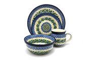 Ceramika Artystyczna Polish Pottery 4-pc. Place Setting with Standard Bowl - Ivy Trail S25-1898a (Ceramika Artystyczna)