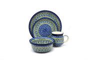 Ceramika Artystyczna Polish Pottery 4-pc. Place Setting with Standard Bowl - Tranquility S25-1858a (Ceramika Artystyczna)