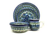 Ceramika Artystyczna Polish Pottery 4-pc. Place Setting with Standard Bowl - Unikat Signature - U4520 S25-U4520 (Ceramika Artystyczna)